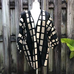 Frivole By Nicolle Robert Wide Woven Jacket O/S